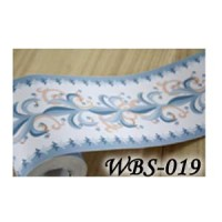 WBS019 : WHITE BLUE VECTOR 10 CM WALL BORDER STICKER 10MX10CM