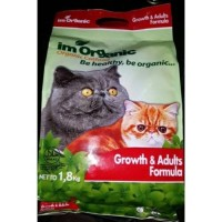 Im Organic Cat Food Growth and Adults Formula 1,8kg - Makanan kucing