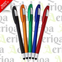 Medium Stylus Pen HP + Ballpoint Pulpen - Universal Capacitive Touch