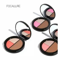 focallure 3 colors shimmer bronzer highlighter