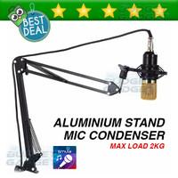 Stand Microphone Dudukan Gantung Suspension Boom Scissor Arm Stand