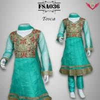 Jual baju india anak baju anak FSA036 tosca busana muslim gamis maxi dresd Murah