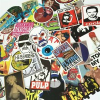Sticker striker bomb bom decal vinyl (laptop gitar mobil) 50pcs