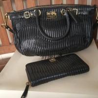tas wanita 1 set dompet merk COACH original second
