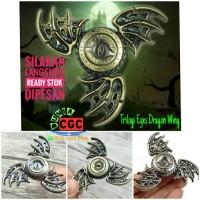 Fidget Spinner PREMIUM Trilogi Eyes Dragon Wing Metal Steel New 2017