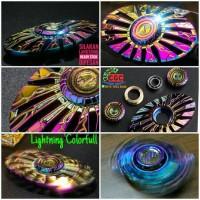 Fidget Hand Spinner PREMIUM Lightning Colorfull Metal Steel New 2017