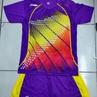 Baju Kaos Setelan Badminton Dewasa Lining L.21 Ungu