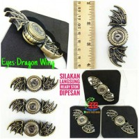 Fidget Hand Spinner PREMIUM Eyes Dragon Wing Metal Steel New 2017