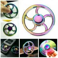 fidget spinner rainbow pelangi Roda Metal