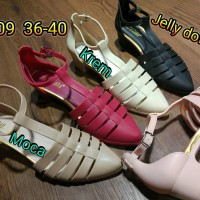 jelly shoes bara bara sepatu wanita wedges karet import 3309