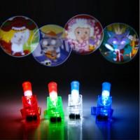 cincin laser jari gambar LED lampu finger party mainan anak edukasi