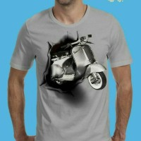 grosir kaos oblong distro murah t shirt 3d motor vespa