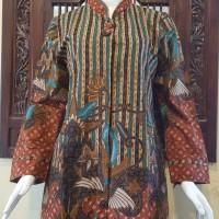 Jual Atasan Blouse Batik Wanita Lengan Panjang Motif Gradasi Pekalongan 214 Murah