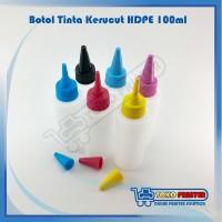Botol HDPE Bentuk Kerucut Tutup Warna CMYK LC LM