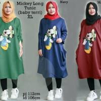 Jual 52376 mickey long tunic/baju tunik murah/atasan muslim wanita murah Murah
