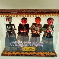 Jual Wayang Golek Punakawan miniatur box mika Murah