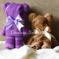 Souvenir: Handuk Bentuk Teddy (tanpa kemasan)