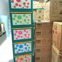 Jual lemari plastik miniclub flora 5 susun Murah