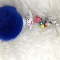 Bagcharm Hello Kitty Sanrio Character in Cinnamon Costume with Furball