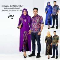 harga Deffana Baju Couple Batik Sarimbit Pasangan Rok Dan Blus Tokopedia.com