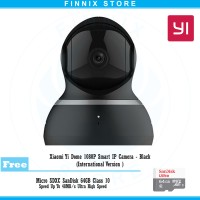 Jual Xiaomi Yi Dome 1080P Smart IP Camera Inter - Black + Free Sandisk 64GB Murah