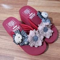 Jual Sandal sponge bear n flower import Murah