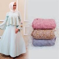 DRESS / GAMIS / BAJU MUSLIMAH BROKAT MODERN