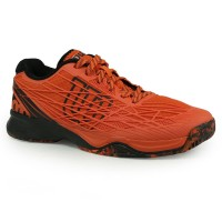 Sepatu Tennis Wilson Kaos - Orange/black Original