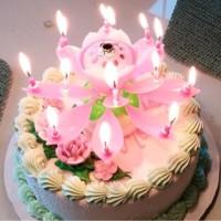 Jual Lilin Bunga Lotus / Musical Candle Murah