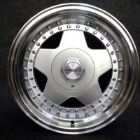 Jual velg mobil model borbet ring 15 pcd 4x100-114 silver polish  Murah