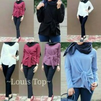 Jual Louis Top Good Quality - bahan twiscone soft size fit L Murah
