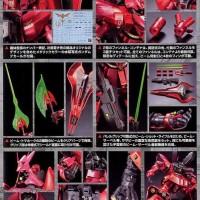 Bandai MSN-04 Sazabi Metallic Coating Version MG 1/100