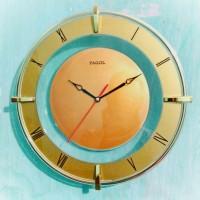 Jual Jam Dinding Pagol 371 CH Gold Transparent Wall Clock Murah