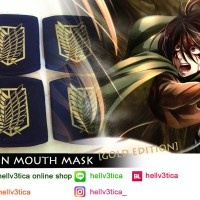 masker mulut snk scouting legion | GOLD EDITION