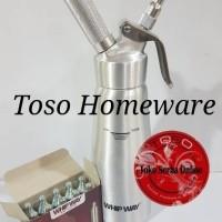 Promo Paket Whip Way Cream Dispenser Full Steel + Charger Whipway N20