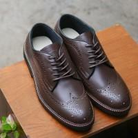 LONGWING Brown Sepatu Kulit Formal Pria 3e8c0ed05d