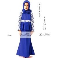Baju anak perempuan impor reseller/dropship gamis brokat blue sc-15923