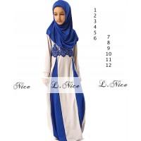 Baju anak perempuan impor lnice86 gamis brokat kombinasi sc-15921