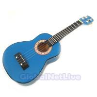 Gitar Ukulele Mini - Kentrung 4 Senar Ukuran 58x21x8 cm Biru muda