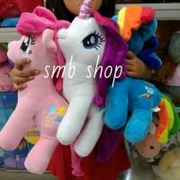 Jual Boneka Kuda Ponie Unicorn White L 35CM Murah