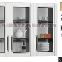 KCA 5133 Sucitra Kitchen Set Atas 3 Pintu Kaca