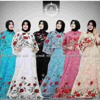 gamis pesta full brokat bordir mewah/abaya/maxidress baju wanita