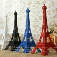 Jual Miniatur menara eiffel dengan cat warna polos 13cm Murah