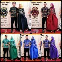 Jual Batik Couple / Gamis / Batik Sarimbit zigzag gamis Murah