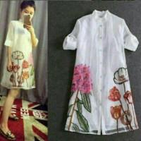 Jual embroidery dress happy Murah