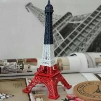 Jual Miniatur menara eiffel dengan cat tiga warna 13cm Murah