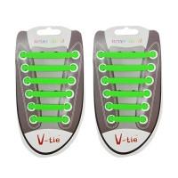 tali sepatu silikon v-tie premium shoelaces 1 set
