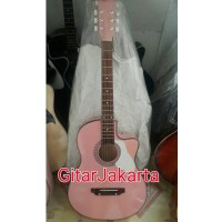 Gitar Akustik Yamaha Warna Pink Buat Belajar Atau Kado Murah Jakarta