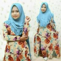 baju muslim anak perempuan Wilona 2 Brown