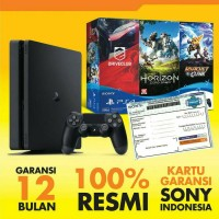 SONY PLAYSTATION 4 SLIM 500GB BUNDLE 3 GAMES KARTU GARANSI RESMI